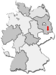 Sedlitz auf der Deutschlandkarte