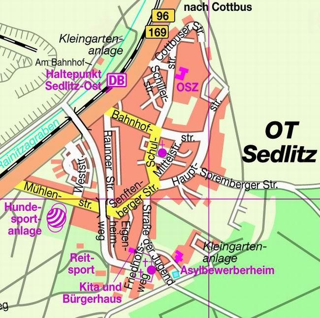 Sedlitz Ortsplan