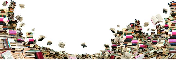 Bücher die durch die Luft wirbeln Foto Fotolia