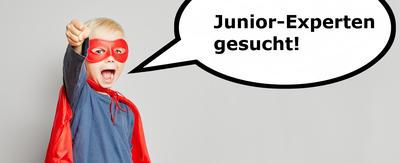 Kind als Superheld ruft Junior-Experten gesucht