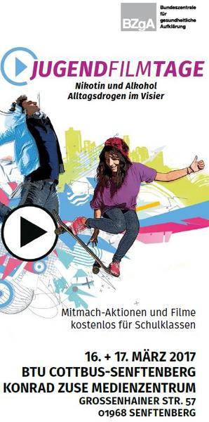 JugendFilmTage Flyer Senftenberg