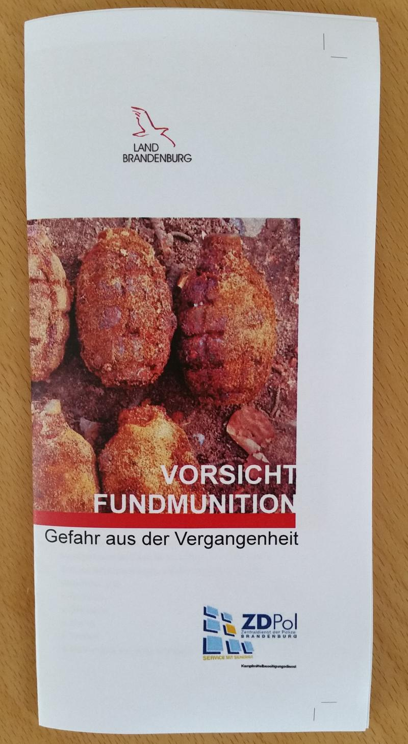 Faltblatt Fundmunition