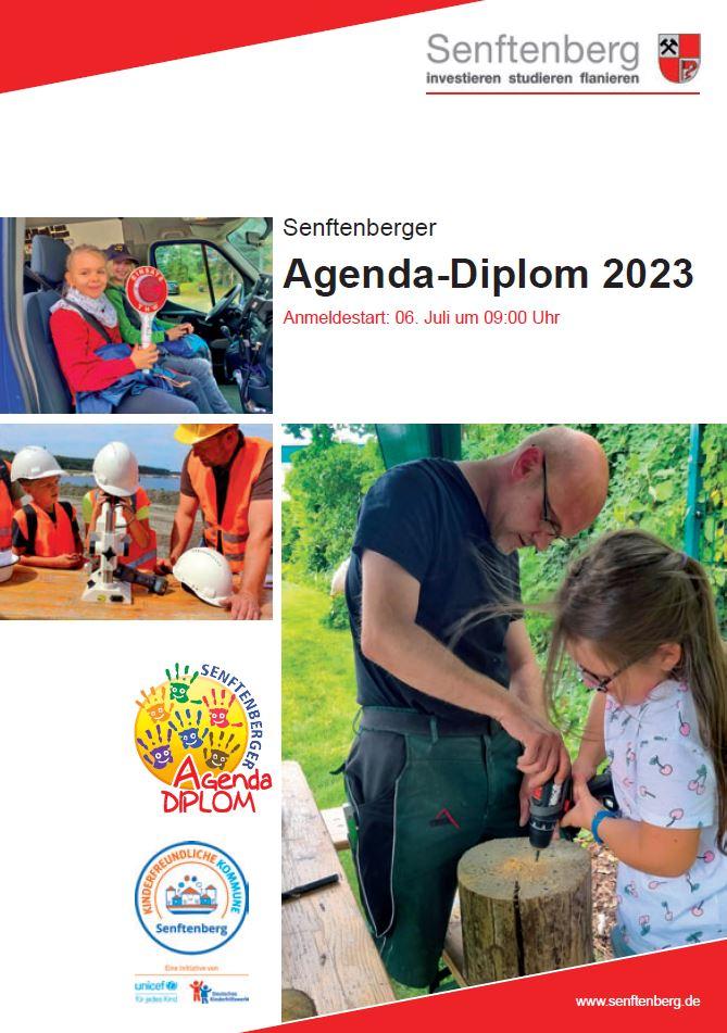 Titelseite der Agenda-Diplom-Broschüre 2019